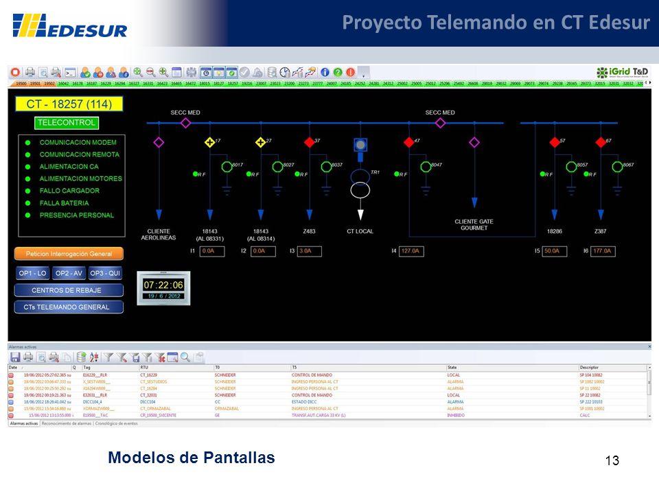 13 Proyecto Telemando en CT Edesur Modelos de Pantallas