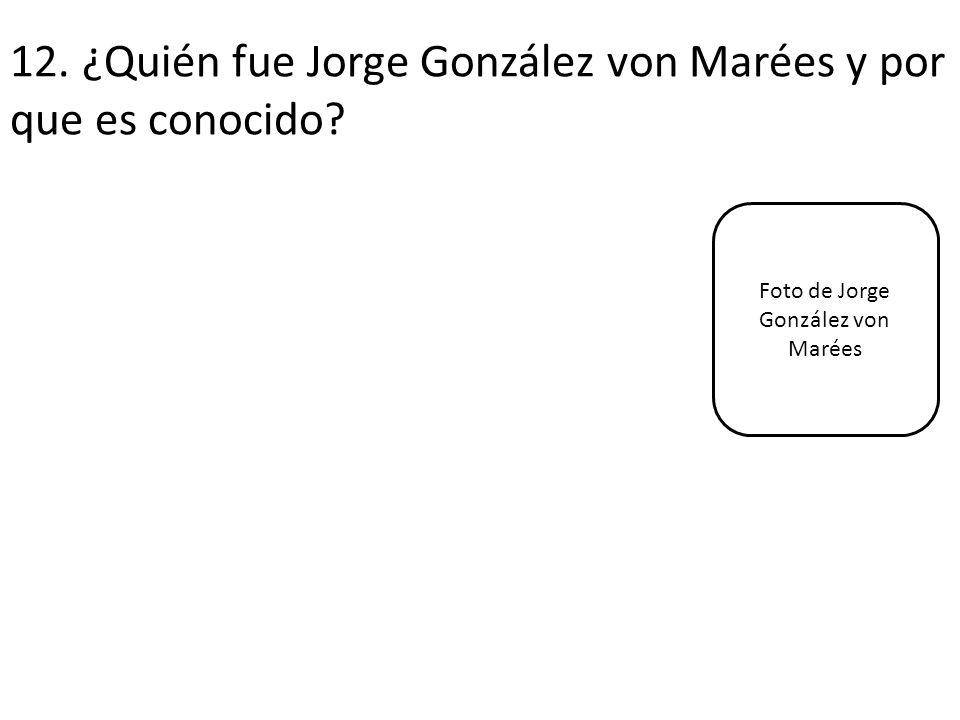 12. ¿Quién fue Jorge González von Marées y por que es conocido? Foto de Jorge González von Marées