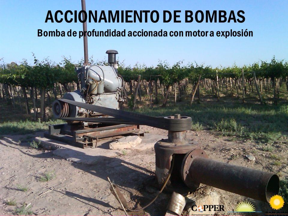 ACCIONAMIENTO DE BOMBAS Bomba de profundidad accionada con motor a explosión