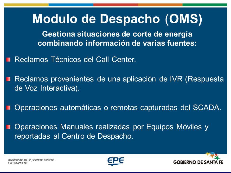 Modulo de Despacho (OMS) Un Despacho de Reclamos Técnicos es fundamental en el funcionamiento cotidiano de una Empresa Distribuidora de Energía Eléctrica.