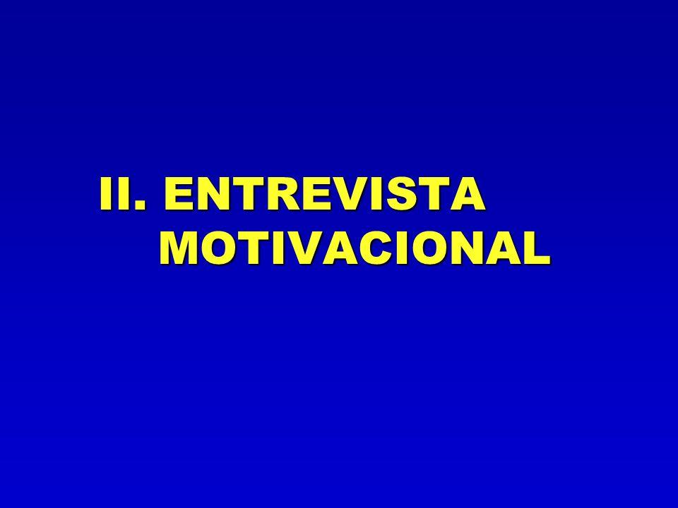 La Entrevista Motivacional trabaja fundamentalmente con la AMBIVALENCIA Explorarla y si se puede ayudar a resolverla