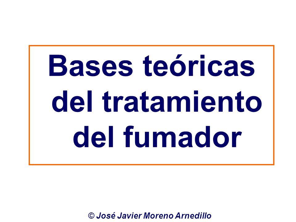 Bases teóricas del tratamiento del fumador © José Javier Moreno Arnedillo
