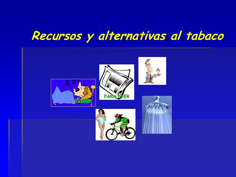 Recursos y alternativas al tabaco