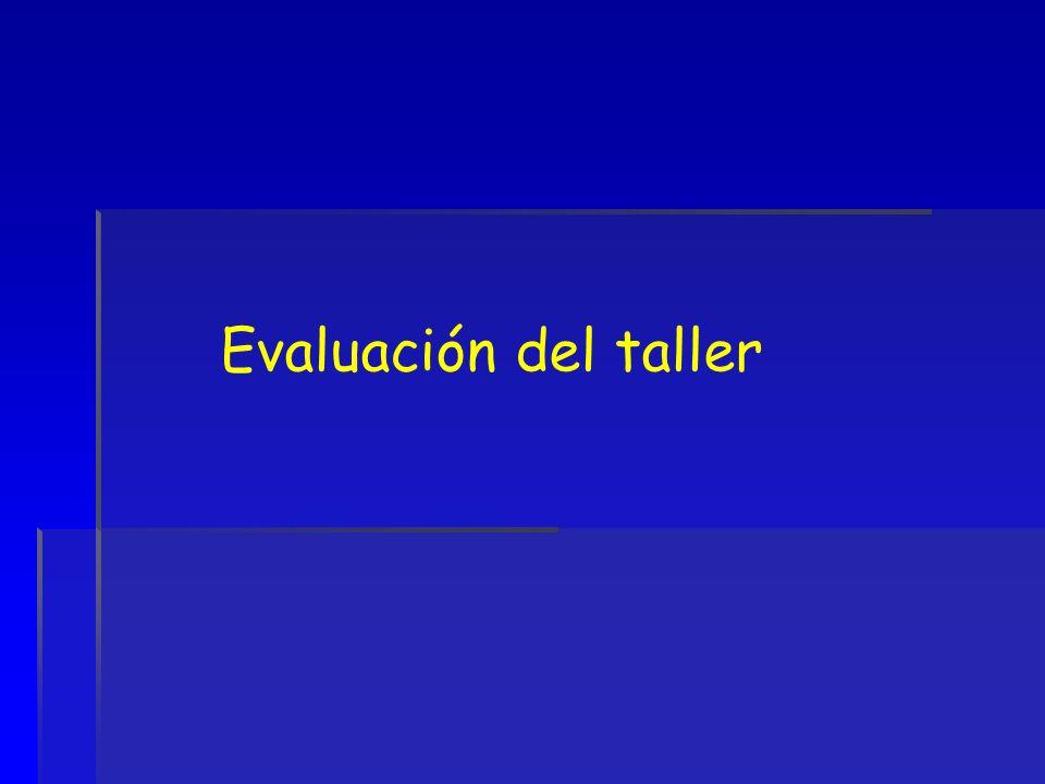 Evaluación del taller