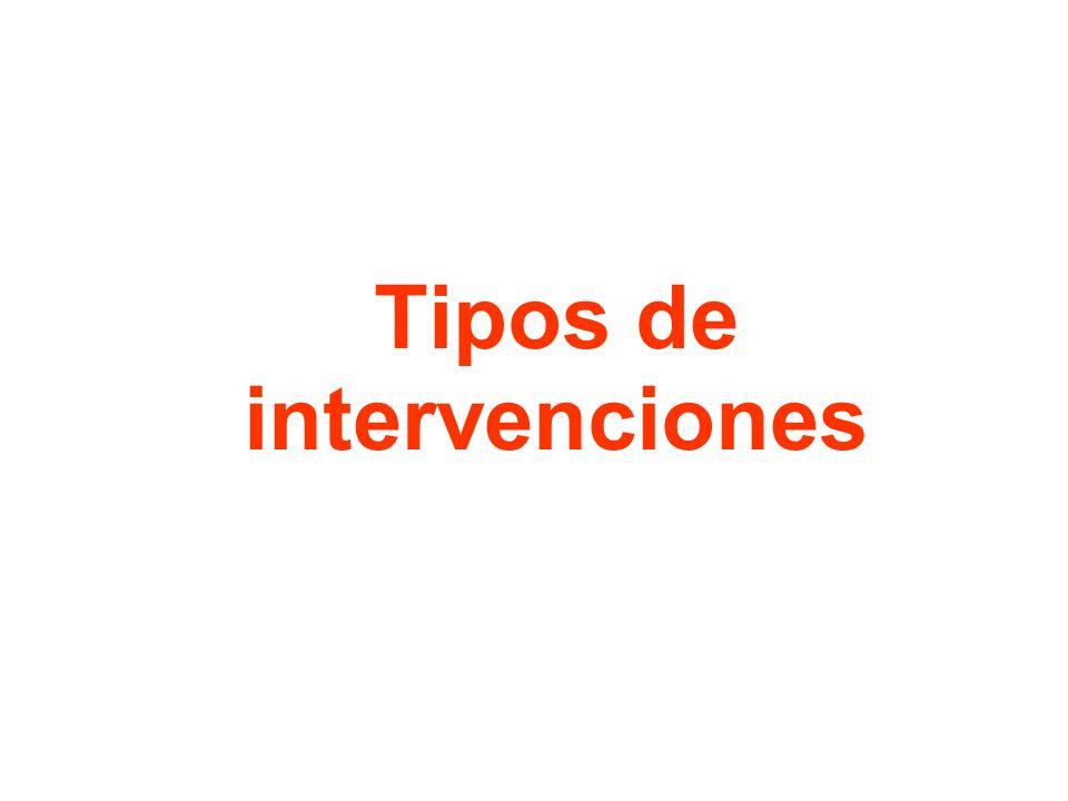 Tipos de intervenciones
