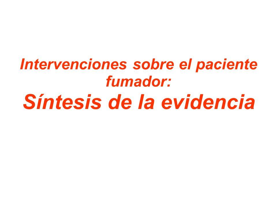 Intervenciones sobre el paciente fumador: Síntesis de la evidencia