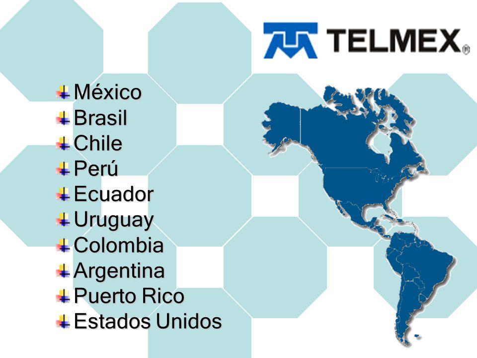 Televisión México Cablevisión con 49% en unión con Televisa Perú Virtecom BoGa Comunicaciones, S.A Brasil NetC (Net Serviços de Comunicaçao) 49% de las acciones con 1 millón y medio de clientes Colombia Superview (2006) TV Cable (164 mil usuarios) TV Pacífico (100 mil usuarios) Cable centro
