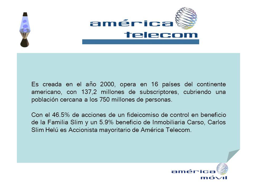 Es creada en el año 2000, opera en 16 países del continente americano, con 137,2 millones de subscriptores, cubriendo una población cercana a los 750