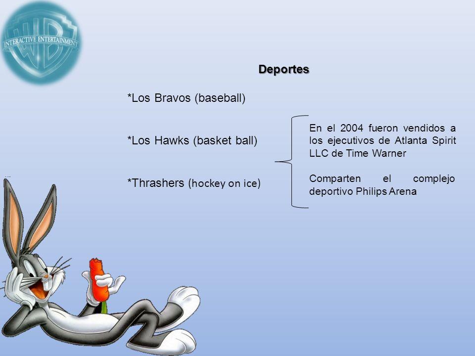 Deportes *Los Bravos (baseball) *Los Hawks (basket ball) *Thrashers (hockey on ice) En el 2004 fueron vendidos a los ejecutivos de Atlanta Spirit LLC