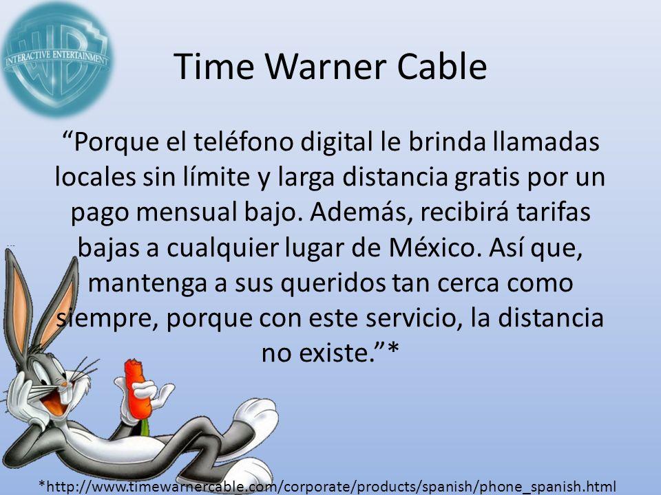 Time Warner Cable Porque el teléfono digital le brinda llamadas locales sin límite y larga distancia gratis por un pago mensual bajo. Además, recibirá