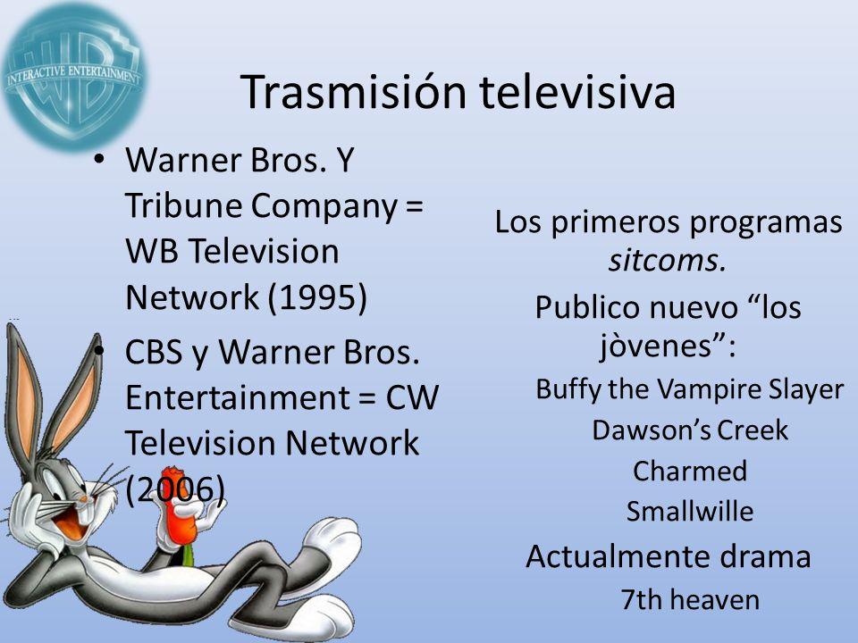 Trasmisión televisiva Los primeros programas sitcoms. Publico nuevo los jòvenes: Buffy the Vampire Slayer Dawsons Creek Charmed Smallwille Actualmente