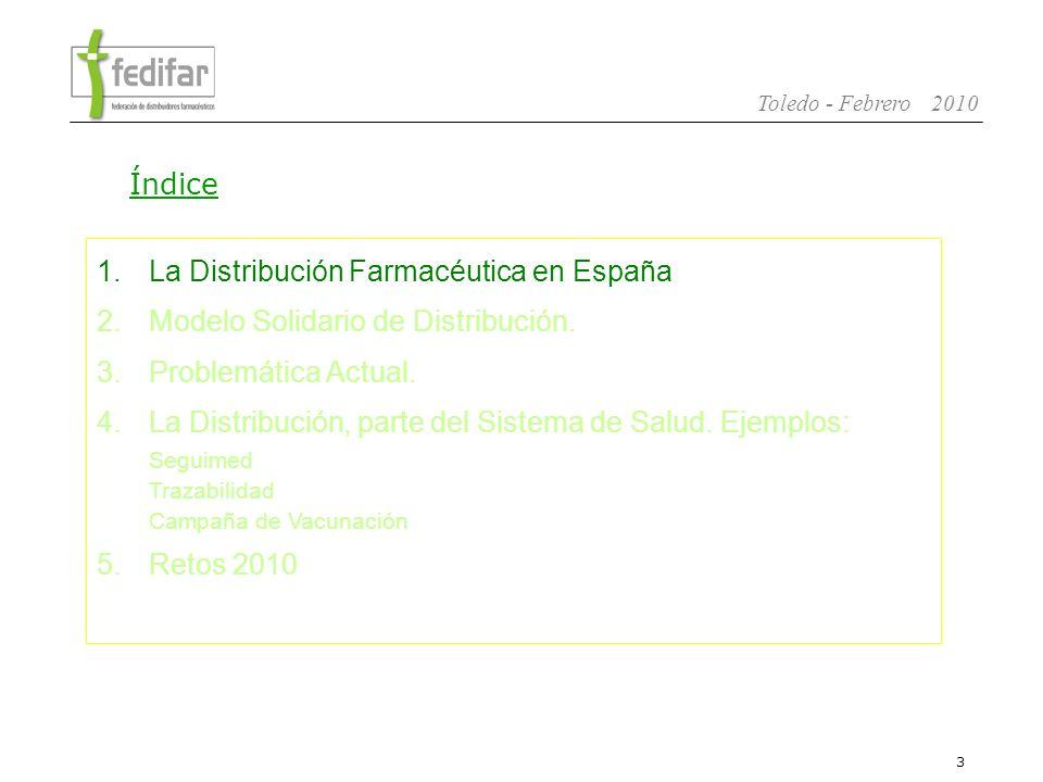 4 Toledo - Febrero 2010 -Es la Federación Nacional de Asociaciones de Mayoristas y Distribuidores de especialidades farmacéuticas.
