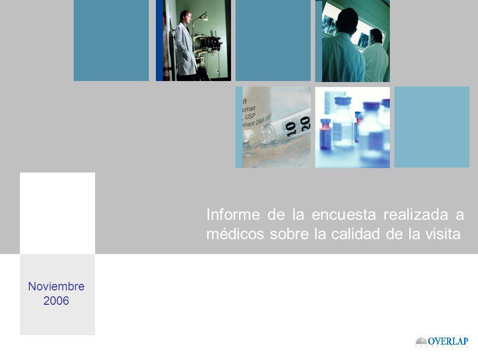 Informe de la encuesta realizada a médicos sobre la calidad de la visita Noviembre 2006