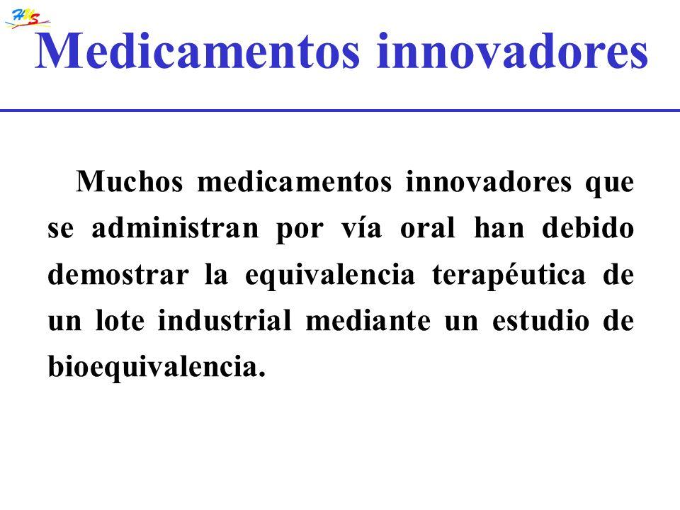Muchos medicamentos innovadores que se administran por vía oral han debido demostrar la equivalencia terapéutica de un lote industrial mediante un est