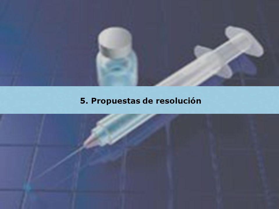 5. Propuestas de resolución