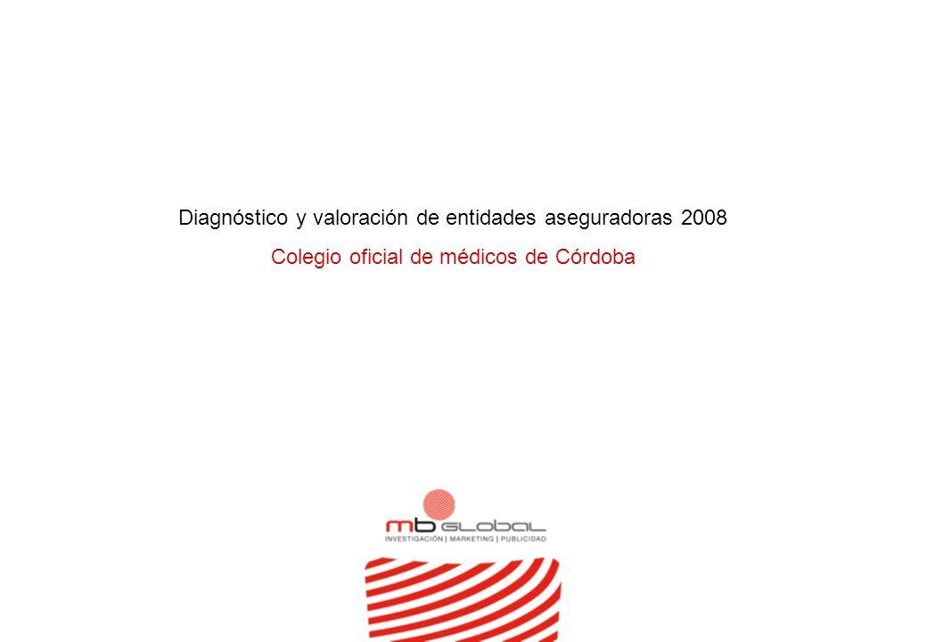 Diagnóstico y valoración de entidades aseguradoras 2008 Colegio oficial de médicos de Córdoba