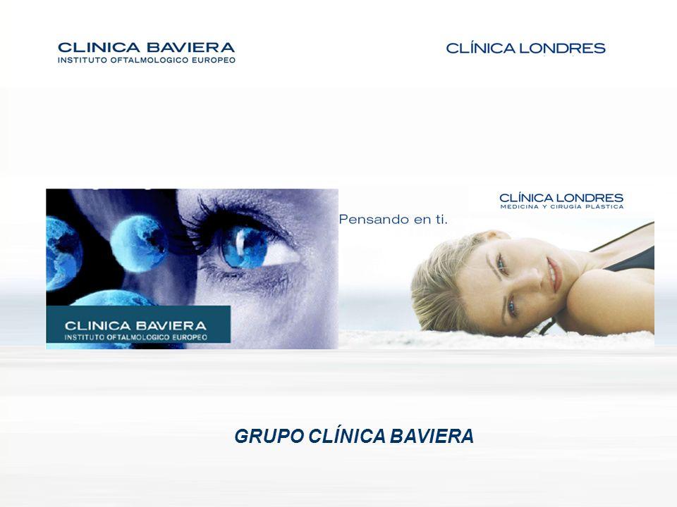 GRUPO BAVIERA -103 Oftalmólogos -62.467 Cirugías 2007 -38 Clínicas (España) -1 Clínica en Milán -Líder de mercado: 24% -37 Cirujanos y médicos estéticos -2.015 Cirugías realizadas -12 Clínicas (2008) -Cuota de mercado: 3,7% -Ofrece principalmente: Cirugía mamaria, liposucción, botox....