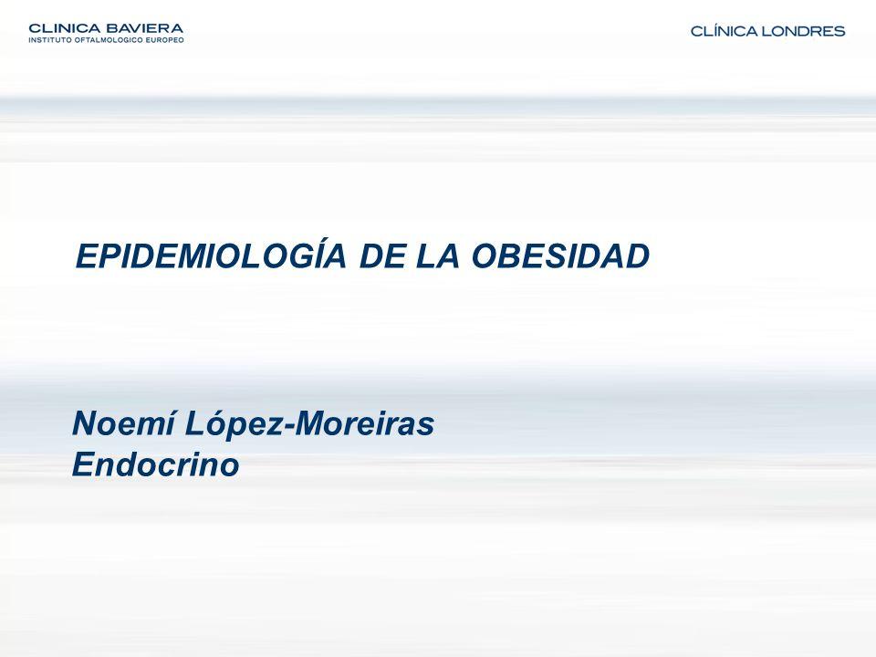 EPIDEMIOLOGÍA DE LA OBESIDAD Noemí López-Moreiras Endocrino