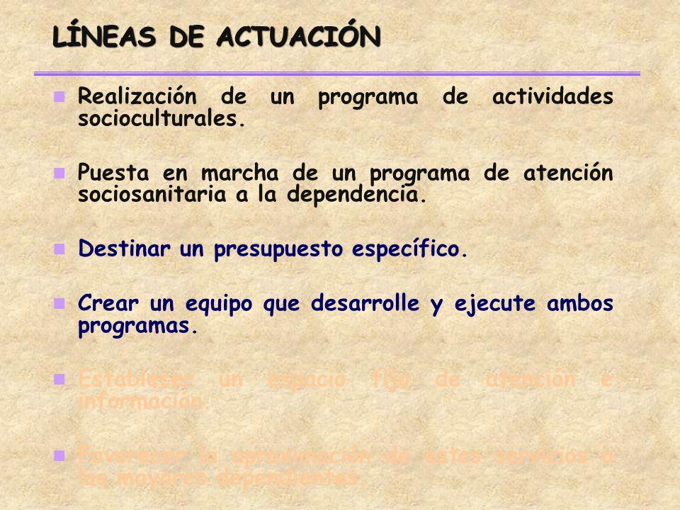 Realización de un programa de actividades socioculturales.