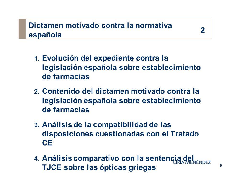 6 Dictamen motivado contra la normativa española 1.