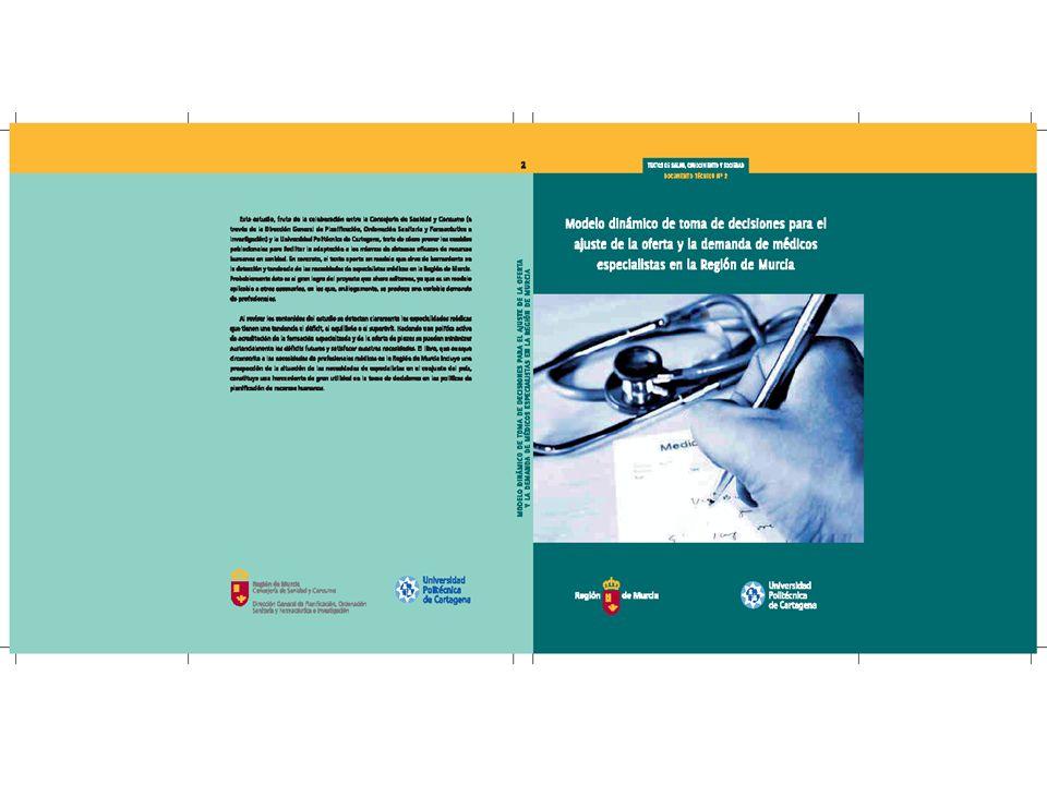 NECESIDAD DE MÉDICOS ESPECIALISTAS EN LA REGIÓN DE MURCIA Dirección General de Planificación, Ordenación Sanitaria y Farmacéutica e Investigación OBSERVATORIO DE LA NECESIDAD DE LAS PROFESIONES SANITARIAS EN LA REGIÓN DE MURCIA.