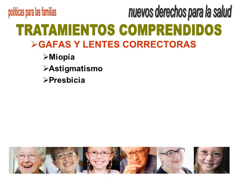 GAFAS Y LENTES CORRECTORAS Miopía Astigmatismo Presbicia