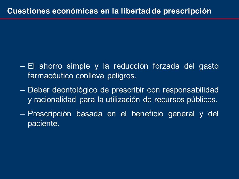 –El ahorro simple y la reducción forzada del gasto farmacéutico conlleva peligros.