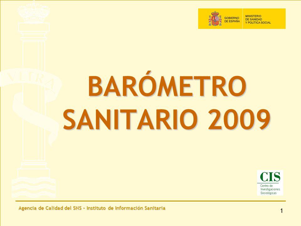 Agencia de Calidad del SNS - Instituto de Información Sanitaria 22 Desde la entrada en vigor en 2005 de la Ley de medidas sanitarias frente al tabaquismo, los ciudadanos creen que...