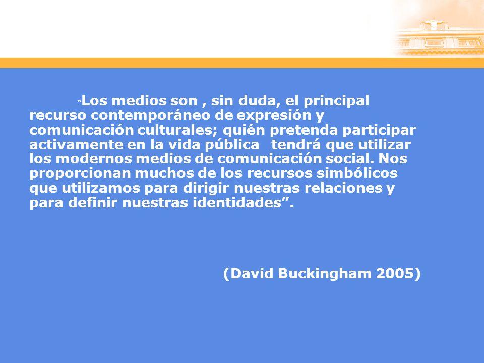 Los medios son, sin duda, el principal recurso contemporáneo de expresión y comunicación culturales; quién pretenda participar activamente en la vida pública tendrá que utilizar los modernos medios de comunicación social.