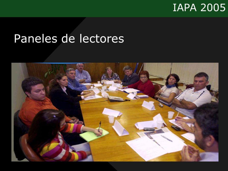 IAPA 2005 Paneles de lectores
