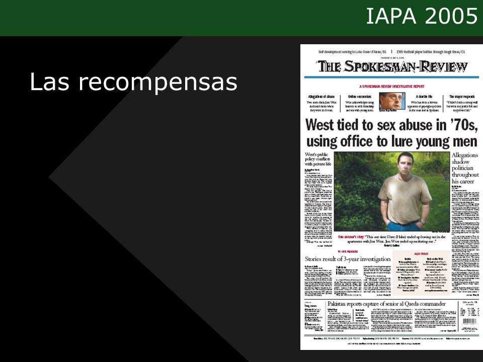 IAPA 2005 Las recompensas