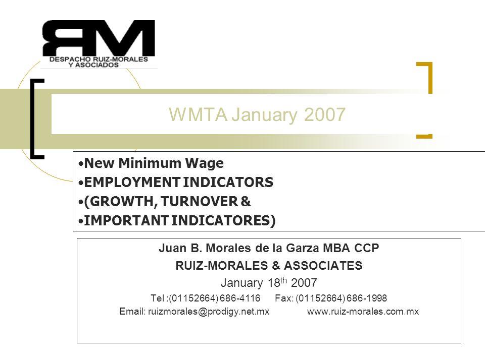 1 WMTA January 2007 Juan B.