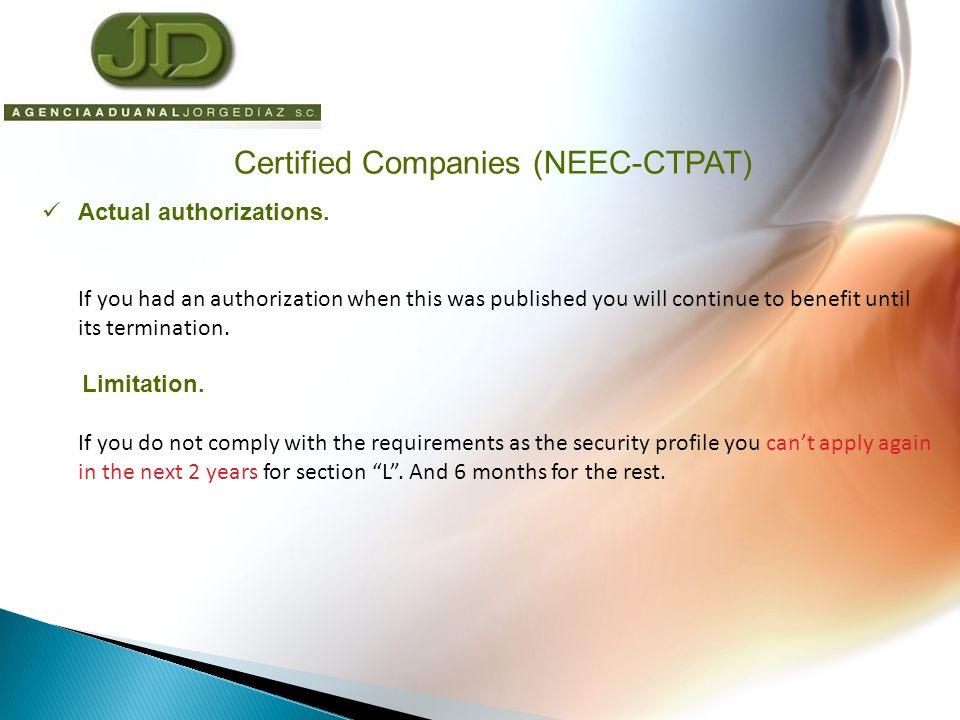Declare IC code for certified companies in pedimentos.
