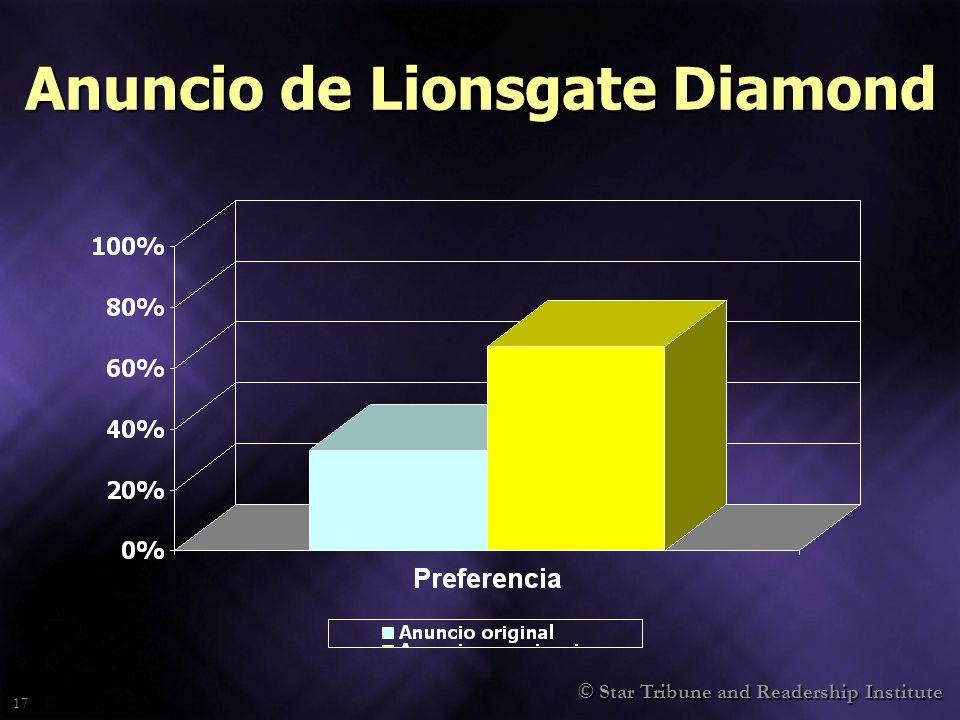 17 Anuncio de Lionsgate Diamond