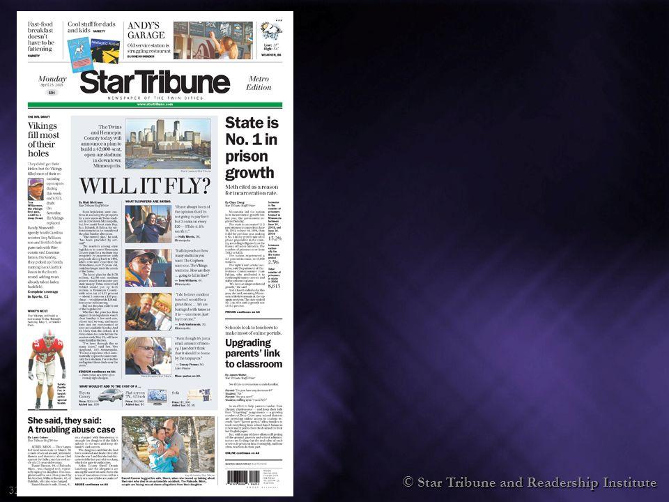 © Star Tribune and Readership Institute 32
