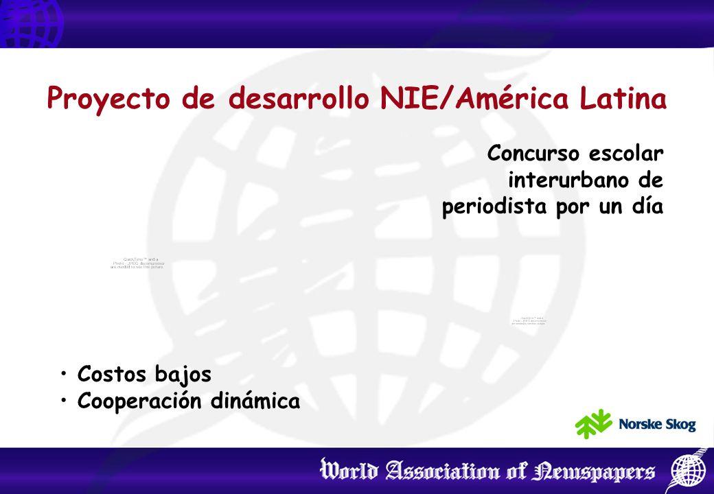 Un centro de preguntas y respuestas Difundir el proyecto en las bibliotecas en Argentina y en el resto del mundo Proyecto de desarrollo NIE/América Latina