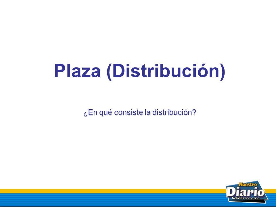 Plaza (Distribución) ¿En qué consiste la distribución?
