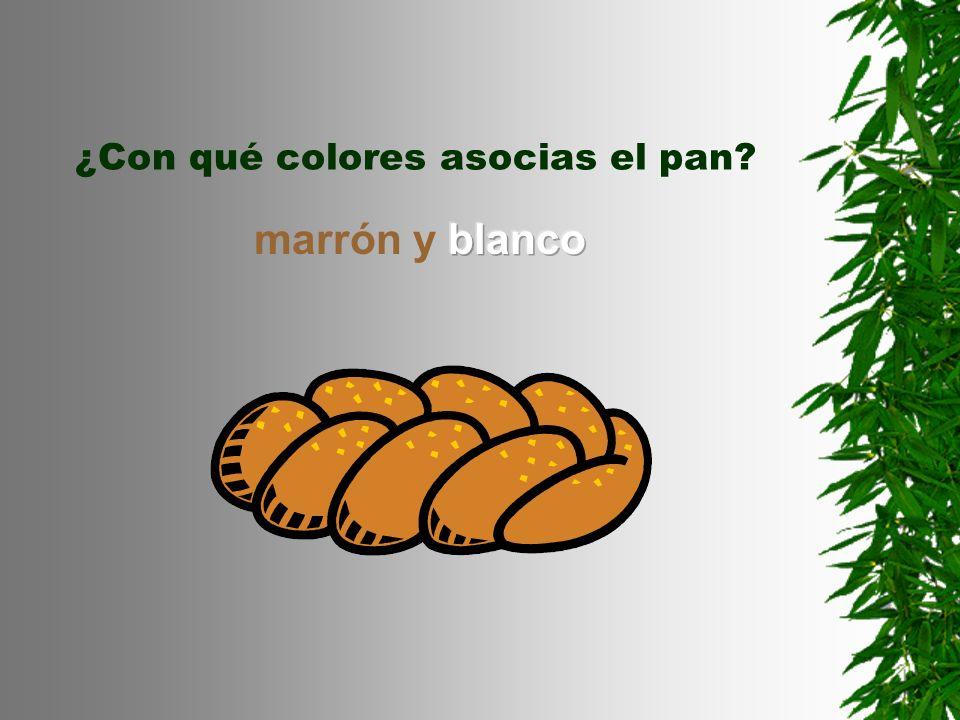 ¿Con qué colores asocias el pan