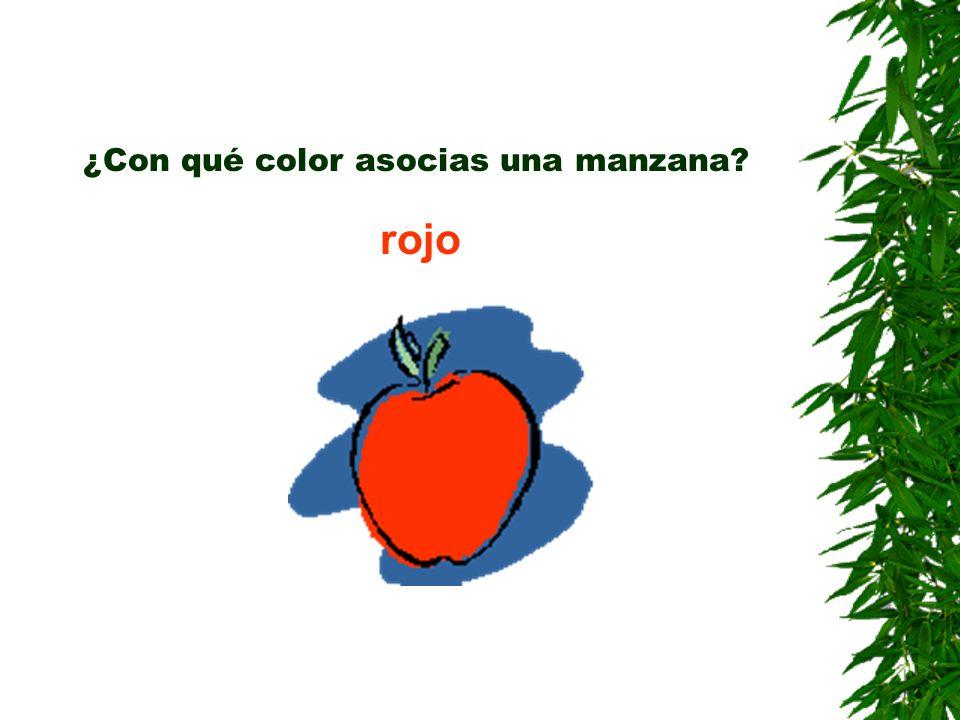 ¿Con qué color asocias una manzana? rojo