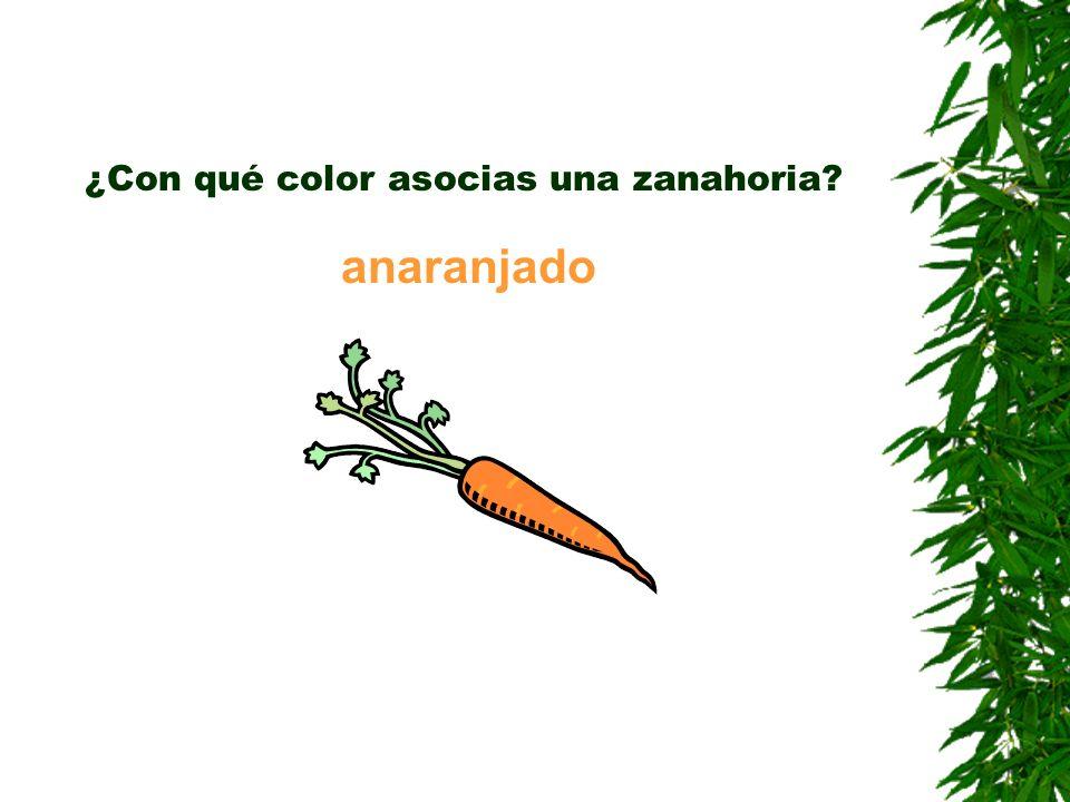 ¿Con qué color asocias una zanahoria? anaranjado