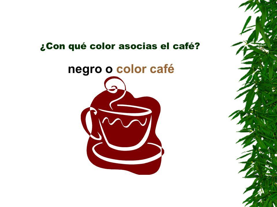 ¿Con qué color asocias el café? negro o color café
