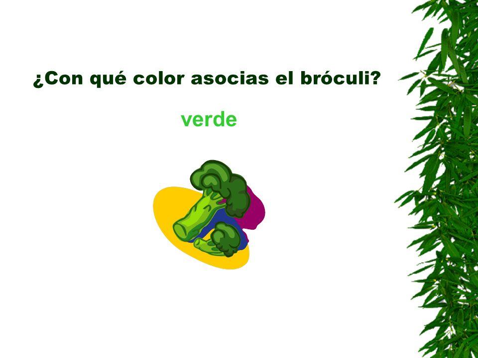¿Con qué color asocias el bróculi? verde