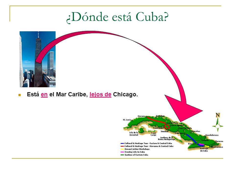 ¿Dónde está Cuba? Está en el Mar Caribe, lejos de Chicago.
