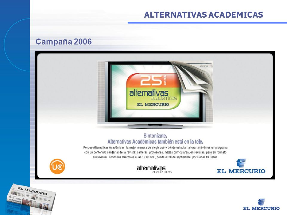 ALTERNATIVAS ACADEMICAS Campaña 2006
