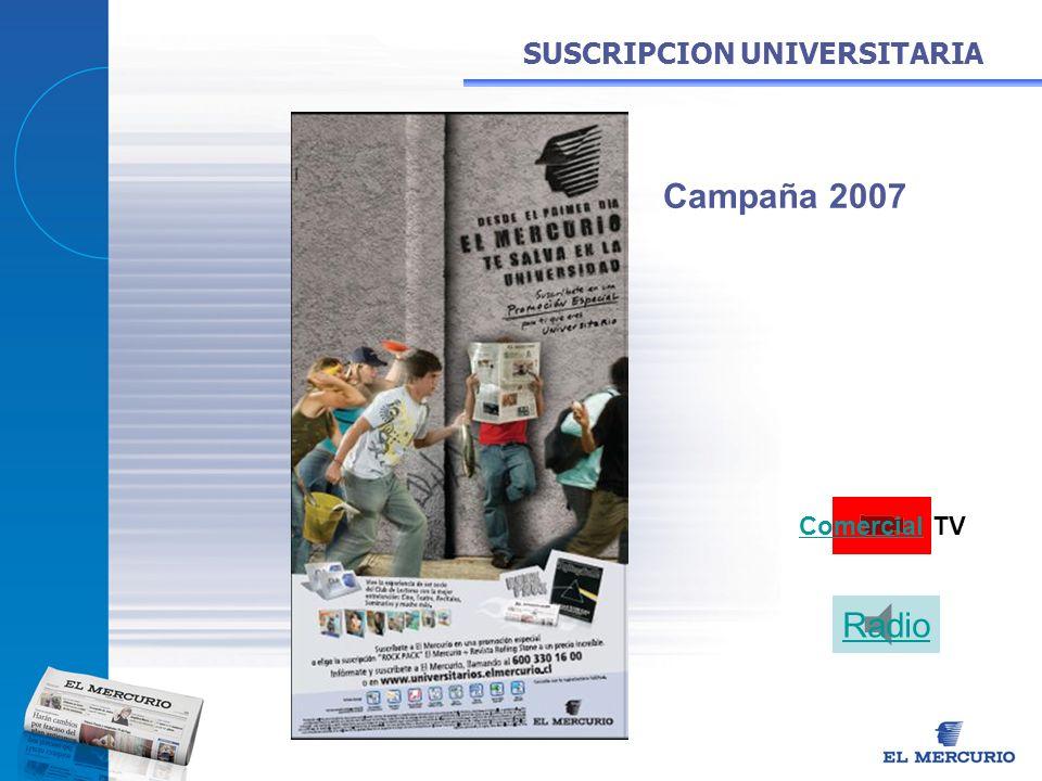 SUSCRIPCION UNIVERSITARIA Comercial TV Radio Campaña 2007