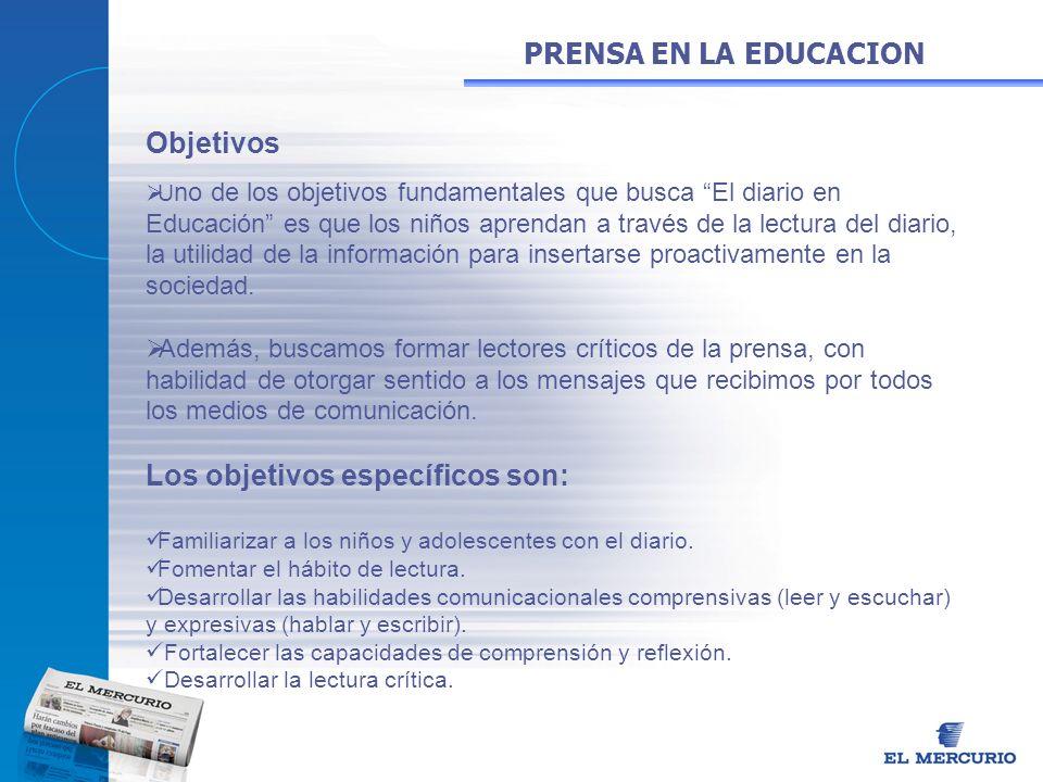 Objetivos U no de los objetivos fundamentales que busca El diario en Educación es que los niños aprendan a través de la lectura del diario, la utilida