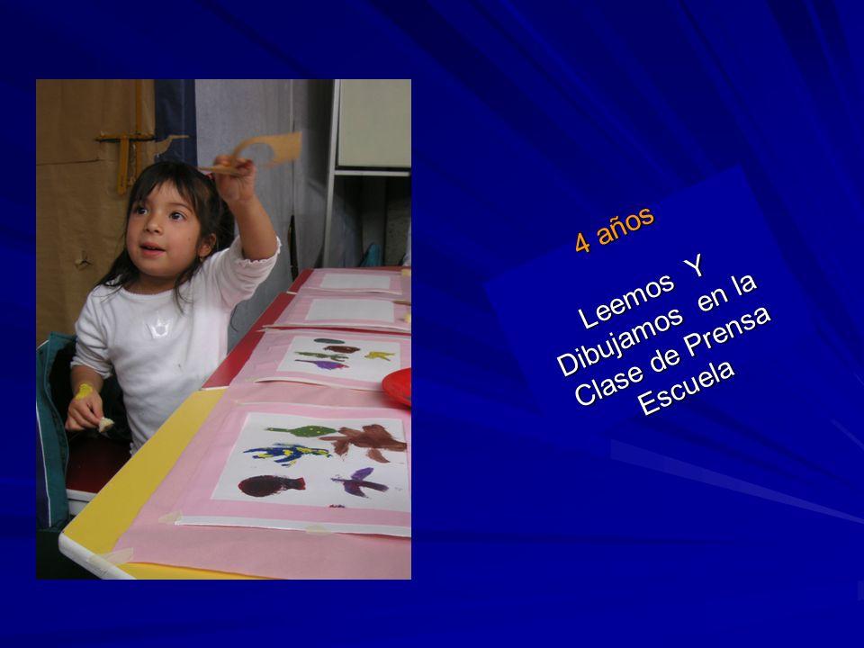 4 años Leemos Y Dibujamos en la Clase de Prensa Escuela