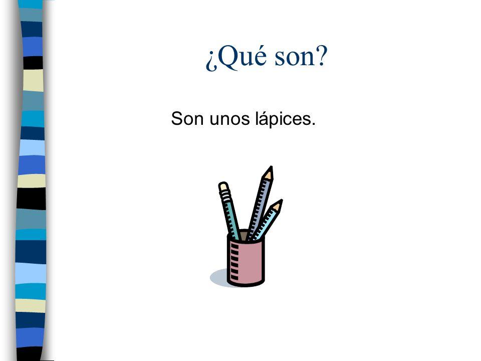 ¿Qué es? Es un bolígrafo / una pluma.