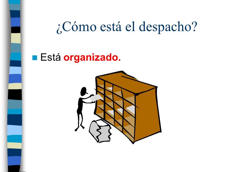 ¿Cómo está el despacho? Está organizado.