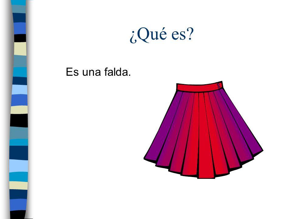 ¿Qué es? Es una falda.